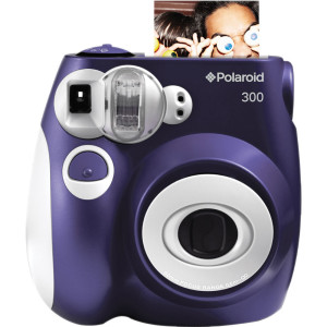 Polaroid 300 instant camera paars